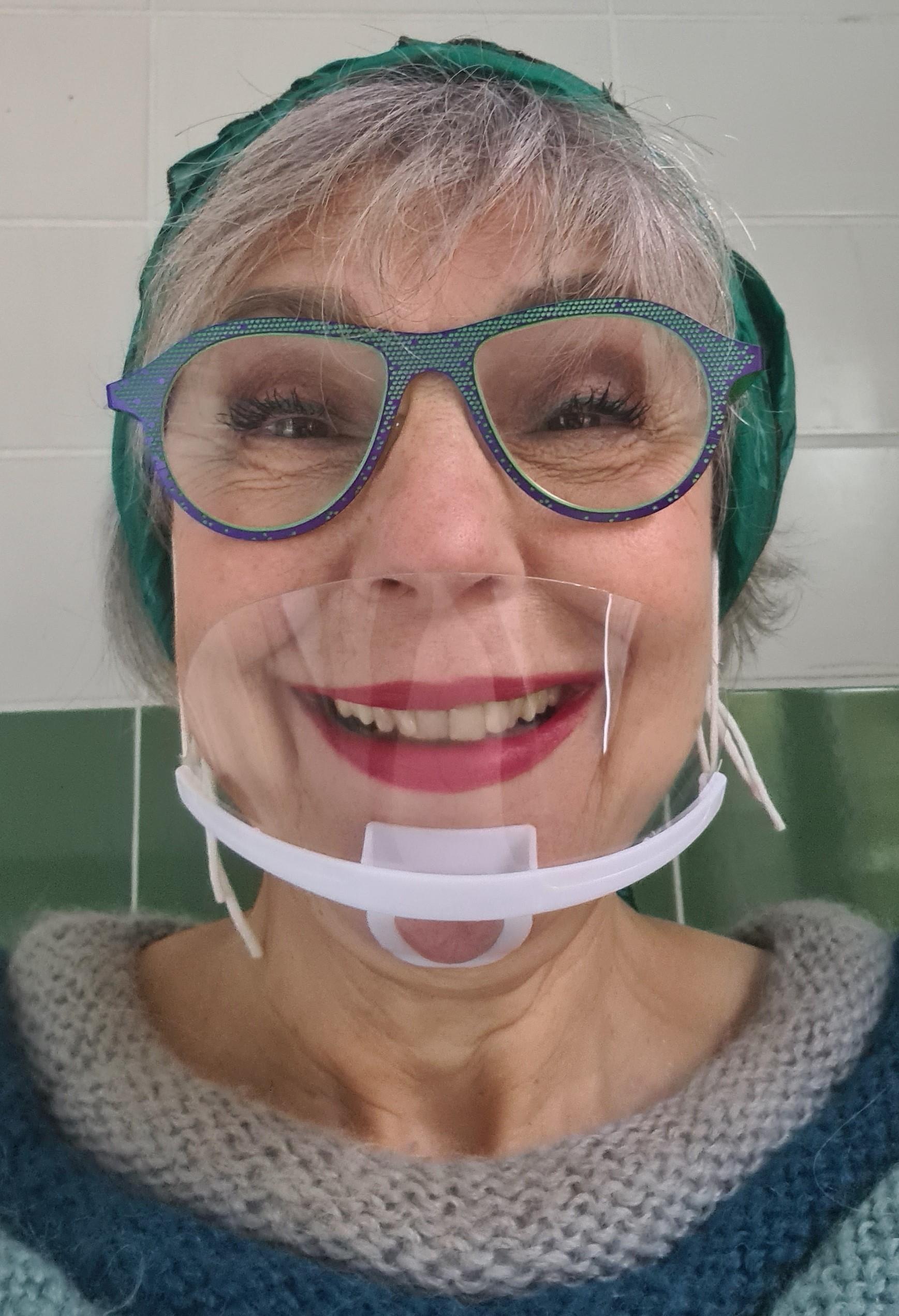 Mondkapje voor brildrager en lippenstiftfanaat